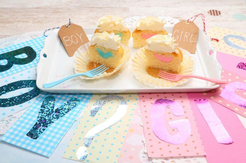 画像1: Gender Reveal Cupcakes Box(12個) (1)