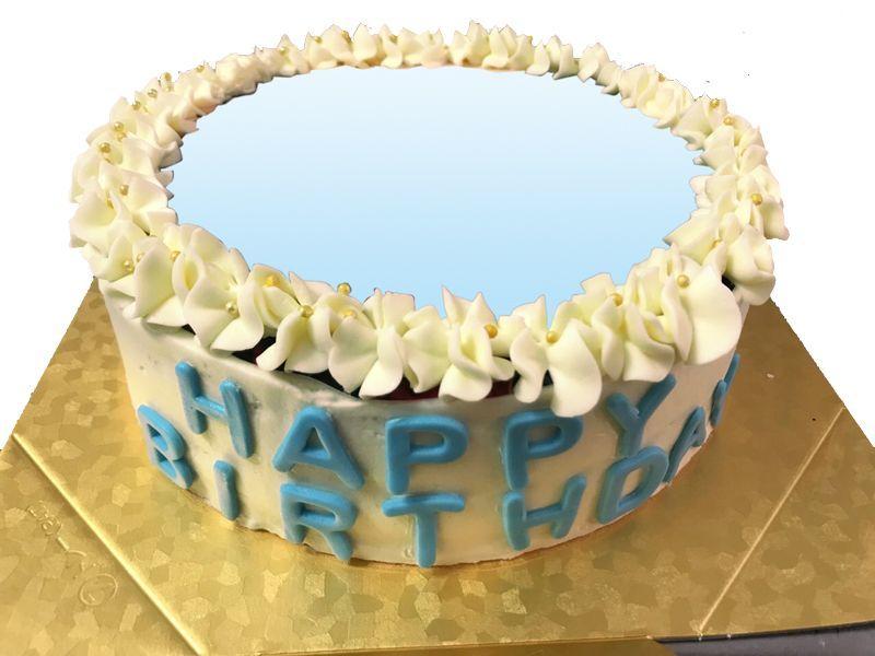 画像1: フォトイメージバタークリームケーキ (1)