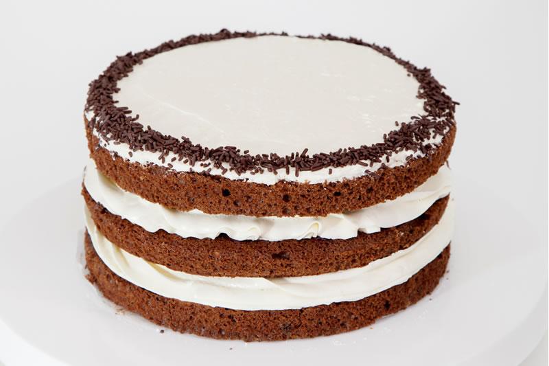 画像1: チョコレートスポンジレイヤーケーキ (1)